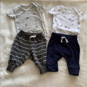 Cute animals onesies with pants.